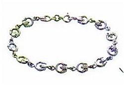 Silver Irish Claddagh Love Bracelet