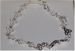 Silver Trinity Knot Irish Celtic Bracelet