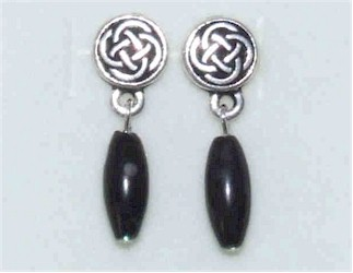 Round Celtic Stud Kilkenny Marble Earrings