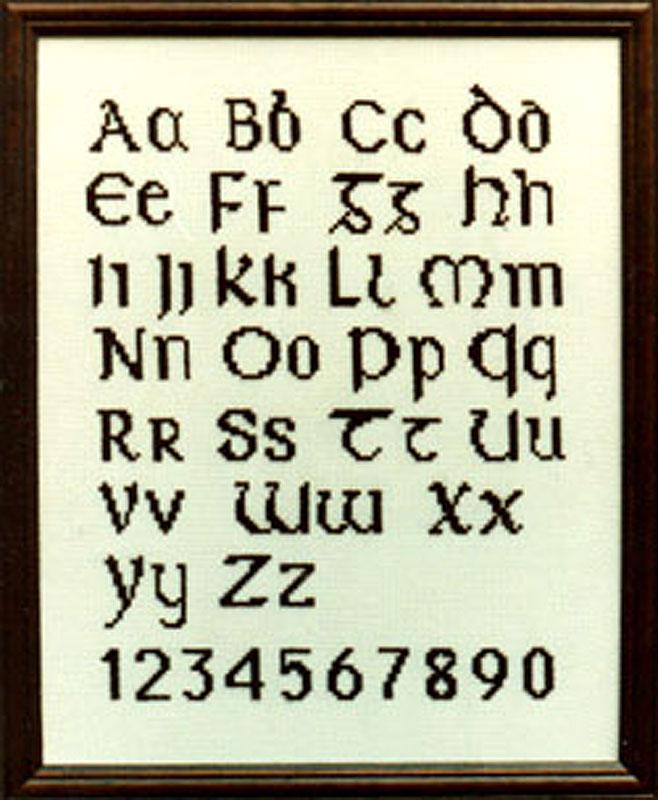 The Irish Collection Eltic Alphabet Cross Stitch Chart Pack