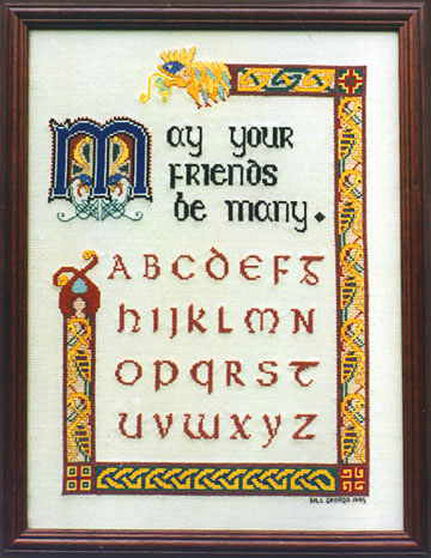 Celtic Sampler Alphabet