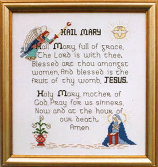 Religious Cross Stitch Patterns Holy Mother Jesus Virgin Mary