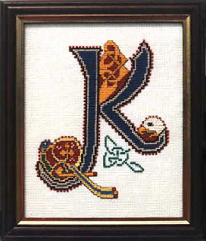 Book Of Kells Letters Celtic Letter K Cross Stitch