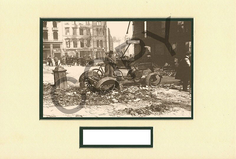 Easter Rising 1916 Barricades & Bomb Damage