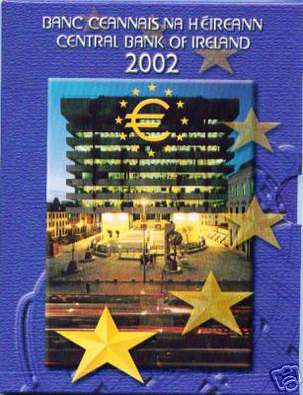 2002 Irish Central Bank Official Euro Coin Pack