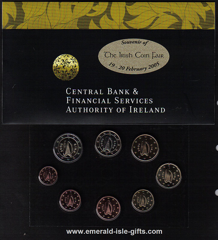 2005 Ireland Coin Fair Euro Blister Pack