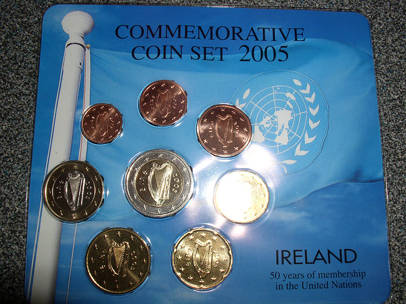 Ireland 2005 Euro Coin Set UN