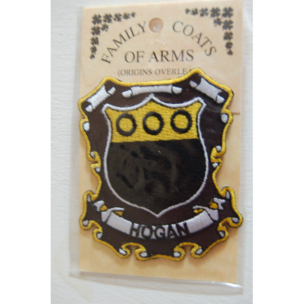 8691aa5e639 Embroidered Heraldic Patches - Hogan Embroidered Patch - Coat of Arms