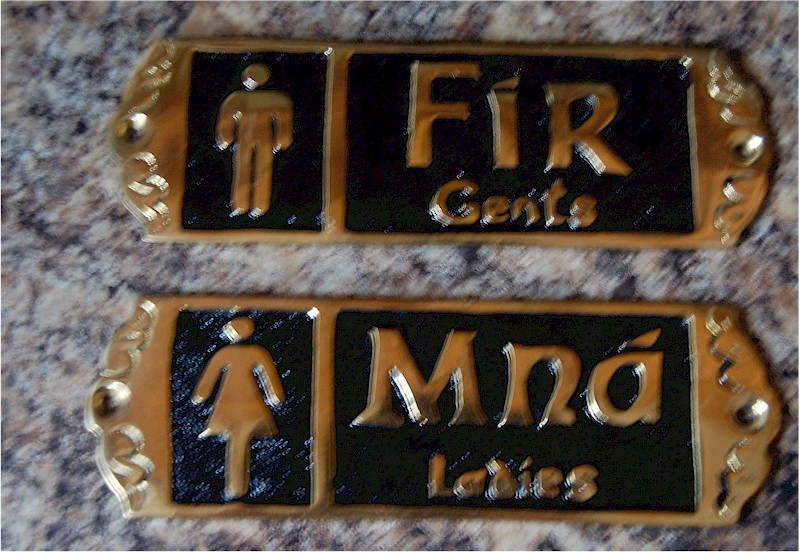 Bathroom Signs Ireland irish brassware - brass wall plaques