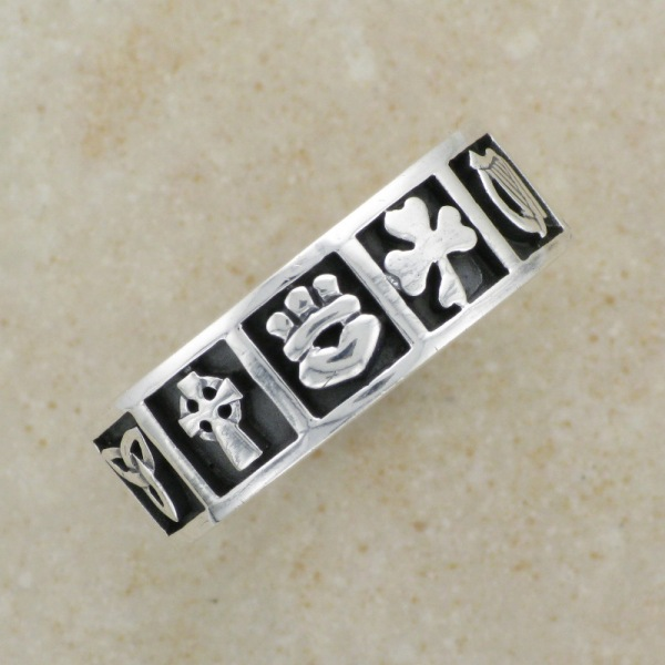 Irish Celtic Classic Irish Symbols Ring