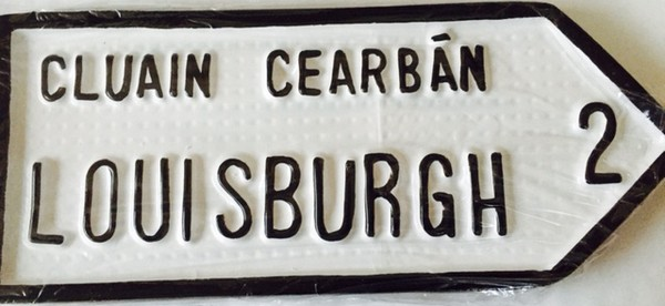 Louisburgh Old Style Road Sign