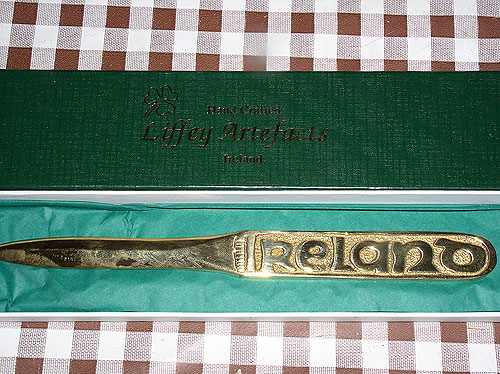 Ireland Brass Large Letter Opener