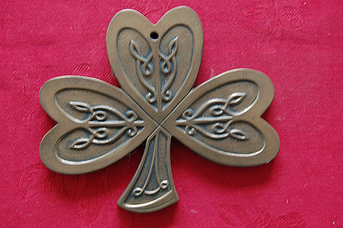 Celtic Shamrock Irish Bronze (Handcrafted Bronze Plaque)