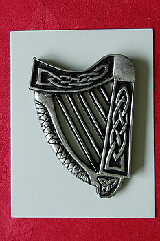 Irish Harp Turf Plaque 3.5"
