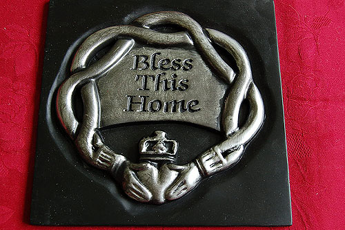 Irish Bless This House Turf Plaque