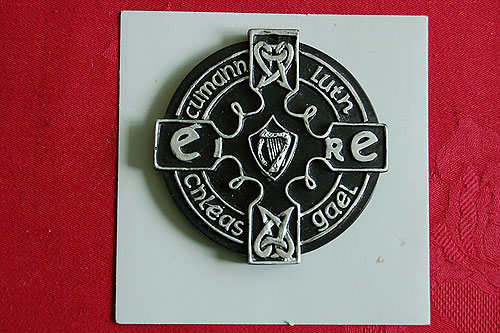 GAA Miniature Turf Crest Plaque (Irish Gaelic Sports)