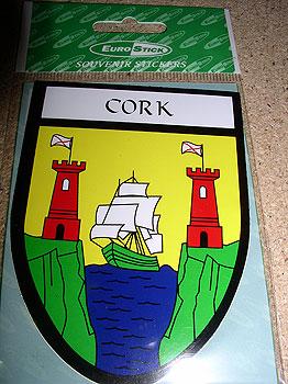 Cork County Car Sticker (Rebel County)