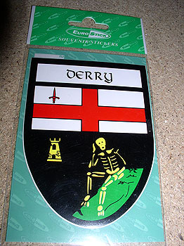 Derry County Car Sticker (Oak Leaf County)