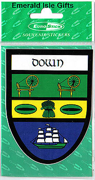 Down County Car Sticker