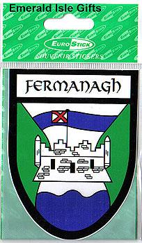 Fermanagh County Car Sticker (Erne County)