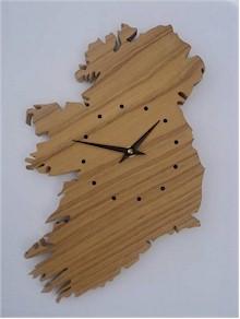 Carved Oak Irish Map Clock (by Paul McEvoy)