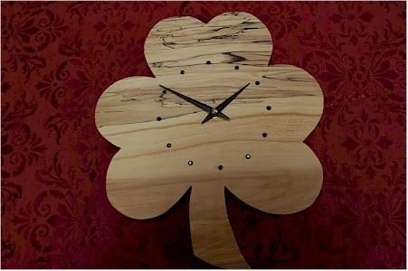 Beech Tree Irish Shamrock Clock (by Paul McEvoy)
