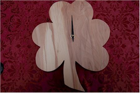 Plain Irish Shamrock Clock (by Paul McEvoy)