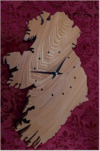 Map of Ireland clock (by Paul McEvoy)
