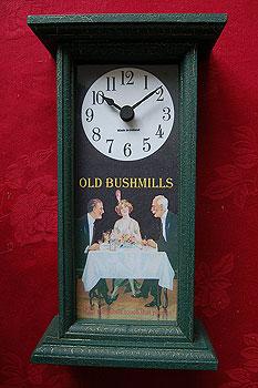 Old Bushmills Irish Whiskey (Antique Pub Clock)