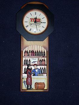Irish Pub Bar Scene Pendulum Clock