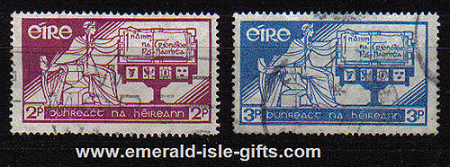 Ireland 1937 Irish Constitution Set Of 2 Used