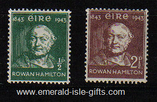 Ireland 1943 Rowan Hamilton Set Of 2 Mnh