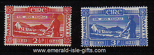 Ireland 1946 Land Reform Parnell & Davitt Mnh Set Of 2