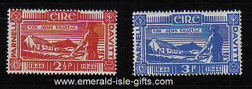 Ireland 1946 Land Reform Parnell & Davitt Mnh Set Of 2