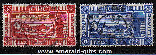 Ireland 1946 Land Reform Parnell & Davitt Used Set Of 2
