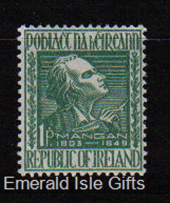 Ireland 1949 James Clarence Mangan Mnh Set Of 1
