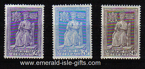 Ireland 1950 Holy Year St Peter Mnh Set Of 3