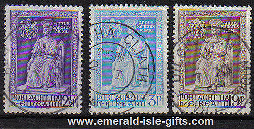 Ireland 1950 Holy Year St Peter Used Set Of 3