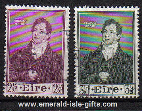 Ireland 1952 Thomas Moore Used Set Of 2
