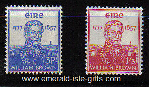 Ireland 1957 Admiral William Brown Mnh Set Of 2