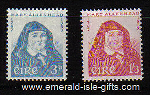 Ireland 1958 Mary Aikenhead Mnh Set Of 2