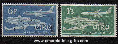 Ireland 1961 Aer Lingus National Airline Used Set Of 2
