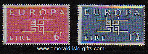Ireland 1963 Europa Set Of 2 Mnh