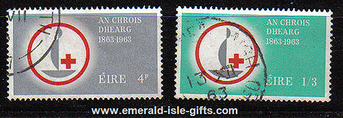 Ireland 1963 Red Cross Centenary Set Of 2 Used