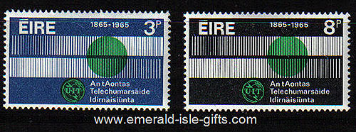 Ireland 1965 Telcommunications Year Set Of 2 Mnh 198/9