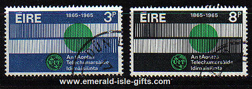 Ireland 1965 Intl. Telcommunications Year Set Of 2 Used