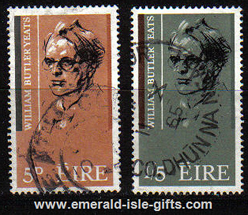 Ireland 1965 Wb Yeats Poet Birth Centenary Set 2 Used