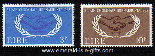 Ireland 1965 Intl Co-operation Year Set Of 2 Mnh