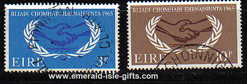 Ireland 1965 Intl Co-operation Year Set Of 2 Used