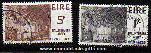 Ireland 1966 Ballintubber Abbey Set Of 2 Used